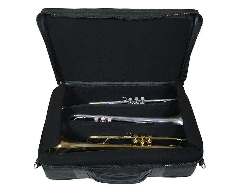 Fultone Brass - Trumpet Case - Ft TRIPLE - Open